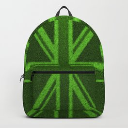 Grass Britain / 3D render of British flag grown from grass Backpack