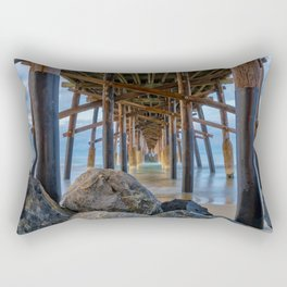 The Rocks Under Newport Pier Rectangular Pillow