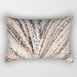 Rose Gold and Glitter Brushstroke Bursts Rectangular Pillow