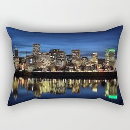 Portland Oregon Skyline Rectangular Pillow