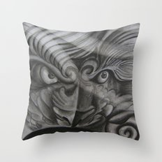 Don't Mess With The Fu Throw Pillow