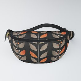 Retro . Berry sprigs on a black background . Fanny Pack