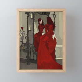 The Mirror Framed Mini Art Print