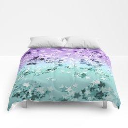 Mermaid Lady Glitter Stars #4 #shiny #decor #art #society6 Comforters