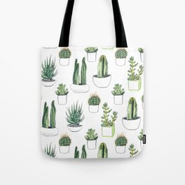 Watercolour Cacti & Succulents Tote Bag
