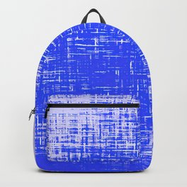 Woven Cerulean Blue and White Abstraction Backpack