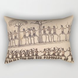 Ceremony; Hunting possum by Tommy McRae, 1880 Rectangular Pillow