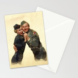 P&J ...Back in the Army (White Christmas) Stationery Cards