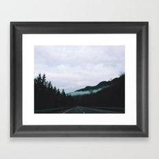 road through the fog Framed Art Print