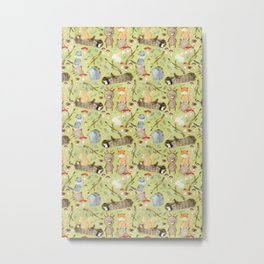 Woodland Animals In Forest Metal Print