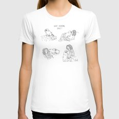 personal space MEDIUM White Womens Fitted Tee