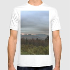 Fall sunset in the mountains White Mens Fitted Tee MEDIUM