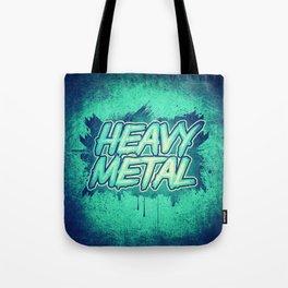 HEAVY METAL! ( Green Splatter Typo Design ) Tote Bag