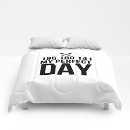 Perfect Dart Day   Darts Bullseye gift idea Comforters