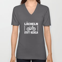 Bicycle Saying Funny Smile Instead Of Panting Unisex V-Neck