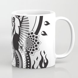 Samurai Skull Warrior Mandala Coffee Mug