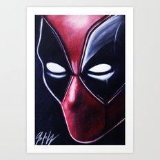 DEADLY HERO Art Print