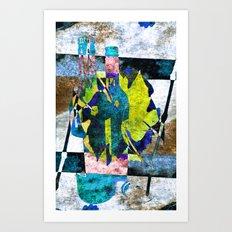 wine bottles abstract Art Print