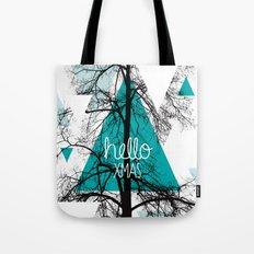 Hello christmas - winter tree geometric photography print Tote Bag