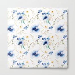 Watercolor hand painted summer flower bloom Metal Print