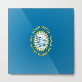 flag of south dakota,america,us,mount rushmore,dakotan,midwest,Sioux fall,rapid city,aberdeen,Pierre Metal Print
