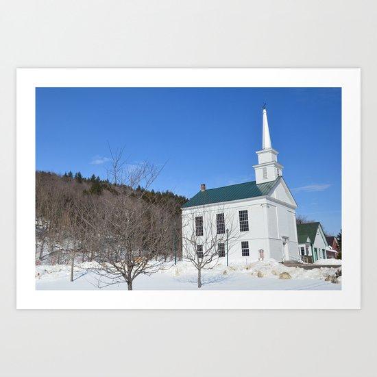 New England Church Art Print