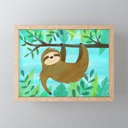 Cute Sloth Framed Mini Art Print