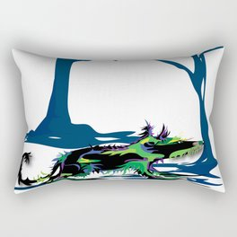 """Wolfdog"" Paulette Lust Original, Contemporary, Whimsical, Colorful Art Rectangular Pillow"