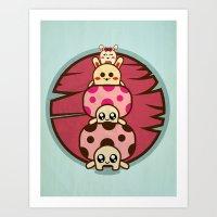 Mushrooms and Art Print