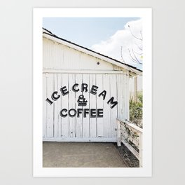 Ice Cream & Coffee Art Print