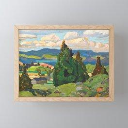 Canadian Landscape Franklin Carmichael Art Nouveau Post-Impressionism Framed Mini Art Print