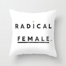 Radical Female Throw Pillow