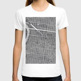 Center City Philadelphia Map T-shirt