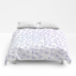 floral, blue on white Comforters