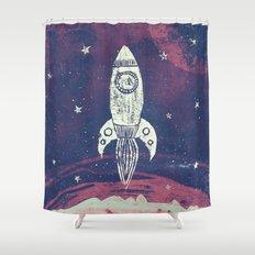 Space Adventure Shower Curtain