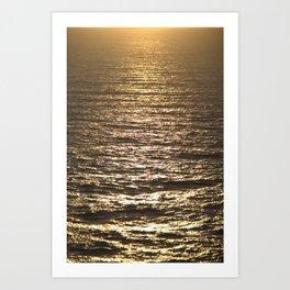 Sun ray on the sea Art Print