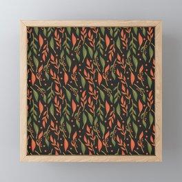 Vintage Floral Pattern 011 Framed Mini Art Print