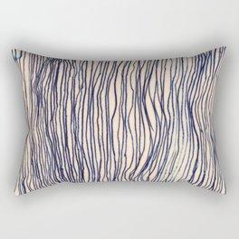Writer's Block - wavy indigo / navy lines Rectangular Pillow