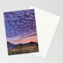 Sunset at the mountains. Boca de la Pesca. Sierra Nevada Stationery Cards