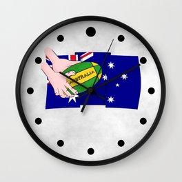 Australia Rugby Ball Wall Clock
