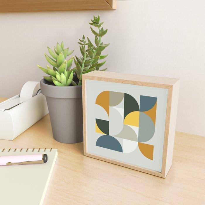 Mid Century Geometric 13 Framed Mini Art Print
