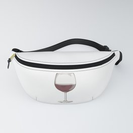 A Glass of Red Wine Fanny Pack