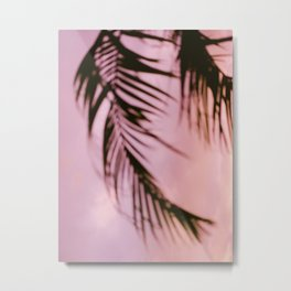 Costa Rica pink and purple palm | Abstract botanical photography | Pastel travel photography Metal Print