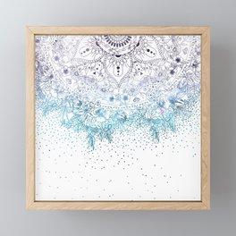 Elegant floral mandala and confetti image Framed Mini Art Print