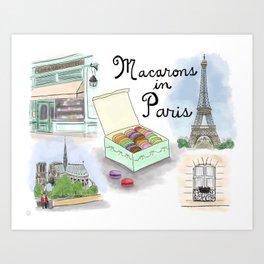 Macarons in Paris Art Print