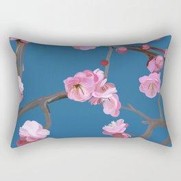 Plum blossom pattern blue Rectangular Pillow