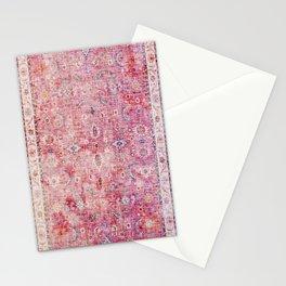 Pink Vintage Antique Oriental Traditional Moroccan Original Artwork Stationery Cards