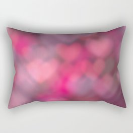 love background of pink hearts on the Valentine's day Rectangular Pillow