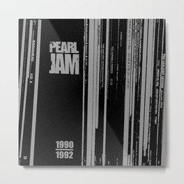 Records 3 Metal Print