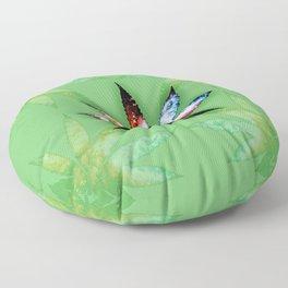 Marijuana Leaf Floor Pillow